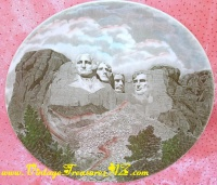 Image for Johnson Bros Mt Rushmore/Mount Rushmore Presidents Commemorative Souvenir Cabinet Plate Vintage ca 1950s-1970s   <b><span style='color:red'>*****PRIORITY MAIL SHIPPING INCLUDED – DOMESTIC ORDERS ONLY!*****</span></b><span style='color:purple'