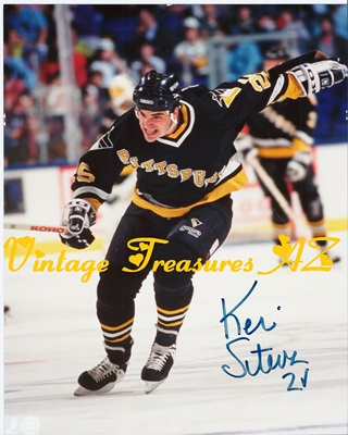 "Image for Handsigned Autographed Photograph ""Kevin Stevens 2√ (check)"" Pittsburgh Penguins Player #25 Hockey Game ""On the Ice"" Action Color Glossy   <b><span style='color:red'>USPS FIRST CLASS SHIPPING INCLUDED – DOMESTIC ORDERS ONLY!</span></b><span style='color:purple'>"
