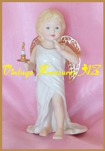 "Image for Lenox China Little Graces Collection ""Guidance"" Angel/Cherub Limited Edition Gold-Plated Figurine #669 of 5,000 RETIRED <b><span style='color:red'> USPS PRIORITY MAIL SHIPPING INCLUDED – DOMESTIC ORDERS ONLY!</span></b><span style='color:purple'>"