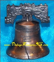 Image for Liberty Bell Pass & Stow Miniature Bronze-looking, Copper-colored Replica (? Penncraft) Paperweight/Dinner Bell Vintage ca 1975/1976   <b><span style='color:red'>*****FIRST CLASS SHIPPING INCLUDED – DOMESTIC ORDERS ONLY!*****</span></b><span style='color:purple'>