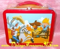 Image for Looney Tunes Rodeo Hallmark School Days Lunch Boxes Warner Bros. Animation Cartoon Characters Limited Numbered Edition 1998 Lunchbox/Lunch Box-style Collector's Tin & COA (Mint/Unopened/New Old Stock)  <b><span style='color:red'>*****PRIORITY MAIL SHIPPING INCLUDED – DOMESTIC ORDERS ONLY!*****</span></b><span style='color:purple'>