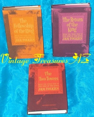 Image for <b><span style='color:purple'> The Lord of the Rings J. R. R. Tolkien Hobbit Books Trilogy Boxed Slipcase Set with Dust Jackets 1965 2nd Edition Revised Houghton Mifflin Company </span></b><span style='color:purple'>      <b><span style='color:red'>***USPS PRIORITY MAIL SHIPPING INCLUDED – DOMESTIC ORDERS ONLY!***</span></b><span style='color:purple'>