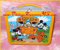 "Image for Mickey Mouse & Friends ""1960s Mickey's School Days"" Hallmark/Disney Lunchbox/Lunch Box Tin (Numbered Edition + COA) 1998 (Mint in Factory Sealed Packaging)   <b><span style='color:red'>*****PRIORITY MAIL SHIPPING INCLUDED – DOMESTIC ORDERS ONLY!*****</span></b><span style='color:purple'>"