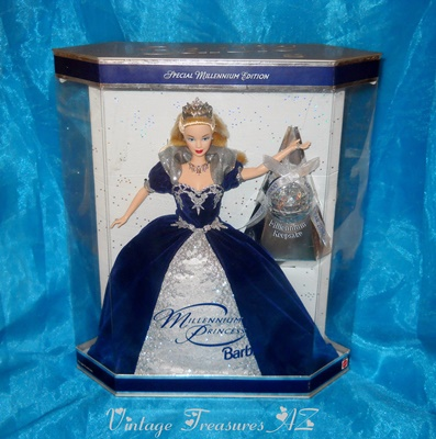 Image for <b><span style='color:purple'>   Millennium Princess Barbie Doll Complete with Keepsake Ornament & Original Accessories Mint in Box </span></b><span style='color:purple'>   <b><span style='color:red'>***USPS GROUND SHIPPING INCLUDED – DOMESTIC ORDERS ONLY!***</span></b><span style='color:purple'>
