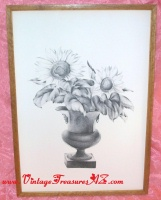 "Image for Minnetta Good Artist Pencil-signed & Numbered ""1/25"" Vintage ca 1920s-1930s  ""Sunflowers in an Urn/Vase"" Still Life Etching   <b><span style='color:red'>*****PARCEL POST SHIPPING INCLUDED – DOMESTIC ORDERS ONLY!*****</span></b><span style='color:purple'>"