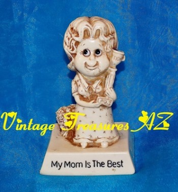 Image for <b><span style='color:purple'>  My Mom Is the Best Sillisculpt Statue Vintage 1976 Russ Berrie & Co. Vintage 1970 Retro Kitschy Figurine/Figure #9233 Mother's Day/New Mother Gift of Love </span></b><span style='color:purple'>   <b><span style='color:red'>***USPS PRIORITY MAIL SHIPPING INCLUDED – DOMESTIC ORDERS ONLY!***</span></b><span style='color:purple'>