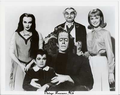 Image for <b><span style='color:purple'> Munster, Go Home The Munsters Movie Studio Publicity Still Family Portrait Photograph of Entire Cast in Full Costume Regalia Vintage 1966 </span></b><span style='color:purple'> <b><span style='color:red'> ***USPS 1st CLASS SHIPPING INCLUDED – DOMESTIC ORDERS ONLY!***</span></b><span style='color:purple'>