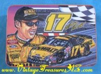 Image for NASCAR Matt Kenseth #17 DeWalt Racing Car Team Sam Bass Collectors Series Kraft Velveeta Cheese Advertising Tin Box  <b><span style='color:red'>  *****FIRST CLASS SHIPPING INCLUDED – DOMESTIC ORDERS ONLY!*****  </span></b><span style='color:purple'>