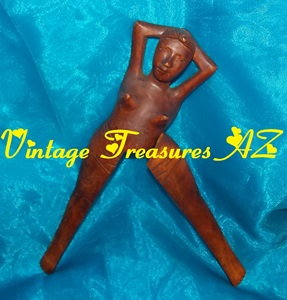 "Image for Naked Woman Hawaiian Tiki Nutcracker Vintage 1940s-1960s Hand-Carved (? Monkey Pod) Wood Folk Art Primitive Figural Topless Nude Torso ""Aloha Hawaii"" Adult Risque Novelty     <b><span style='color:red'> USPS PRIORITY MAIL SHIPPING INCLUDED – DOMESTIC ORDERS ONLY!</span></b><span style='color:purple'>"