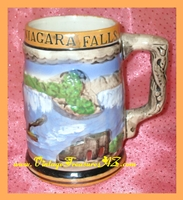 Image for Niagara Falls Canada Enterprise Exclusive Japan Souvenir Lusterware 3-D Scenic Imagery Beer Mug/Stein Vintage ca 1950s-1970s  <b><span style='color:red'>*****PRIORITY MAIL SHIPPING INCLUDED – DOMESTIC ORDERS ONLY!*****</span></b><span style='color:purple'>
