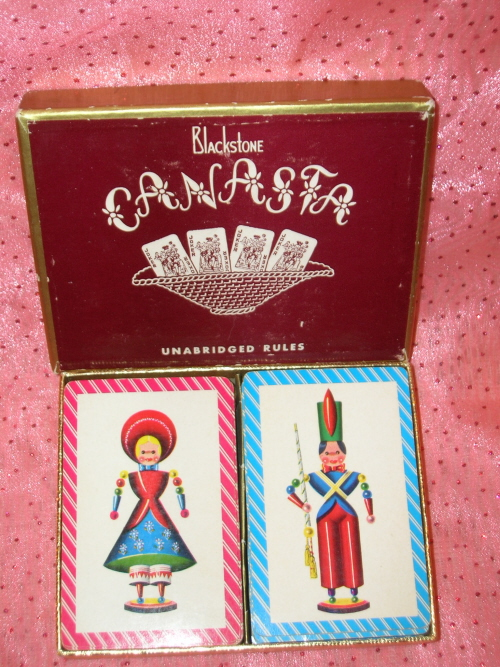 Image for Nutcracker Toy Soldier Boy & Swiss Girl Doll Wooden Ornament Toys Vintage Playing Cards Double Decks Set <b><span style='color:red'>  *****1ST CLASS SHIPPING INCLUDED – DOMESTIC ORDERS ONLY!*****  </span></b><span style='color:purple'>