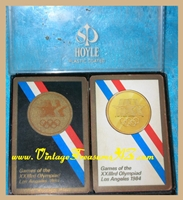 "Image for Olympics Playing Cards ""Games of the XXIIIrd Olympiad Los Angeles 1984"" Vintage 1980 Double Decks Set Commemorative Playing Cards in Hoyle Plastic Case <b><span style='color:red'>  *****FIRST CLASS SHIPPING INCLUDED – DOMESTIC ORDERS ONLY!*****  </span></b><span style='color:purple'>"