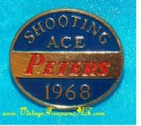 Image for Peters Shooting Ace 1968 Vintage Award/Prize Pin <b><span style='color:red'>*****1st CLASS SHIPPING INCLUDED – DOMESTIC ORDERS ONLY!*****</span></b><span style='color:purple'>