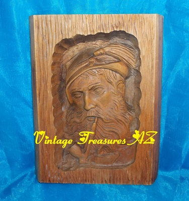 "Image for Wood Folk Art Carving ""Pipe-smoking Tyrolean/German Man"" Bavarian Hat Long-stemmed Churchwarden Pipe Vintage pre-1960s Wall Plaque/Panel Tobacco Collectible   <b><span style='color:red'>***USPS PRIORITY MAIL SHIPPING INCLUDED – DOMESTIC ORDERS ONLY!***</span></b><span style='color:purple'>"