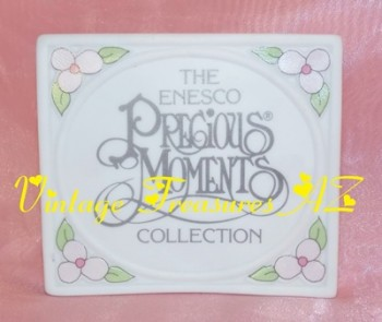Image for <b><span style='color:purple'> Precious Moments Collection Enesco Dealer's Store Display/Collector's Picture Frame Design Ceramic Plaque/Sign Japan Mint No Box Vintage 1990  </span></b><span style='color:purple'>   <b><span style='color:red'>*****USPS PRIORITY MAIL SHIPPING INCLUDED – DOMESTIC ORDERS ONLY!*****</span></b><span style='color:purple'>