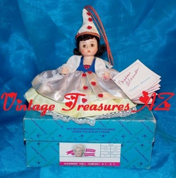 Image for <b><span style='color:purple'> Madame Alexander Queen of Hearts #424 Storyland Series Alice in Wonderland Storybook Doll Vintage 1987 (Original Box & Wrist Hang Tag Booklet) </span></b><span style='color:purple'>  <b><span style='color:red'> USPS PRIORITY MAIL SHIPPING INCLUDED – DOMESTIC ORDERS ONLY!</span></b><span style='color:purple'>
