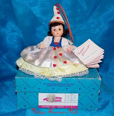 more photos 38241 47f25 Madame Alexander Queen of Hearts #424 Storyland Series Alice in Wonderland  Storybook Doll Vintage 1987 (Original Box & Wrist Hang Tag Booklet) ***USPS  ...