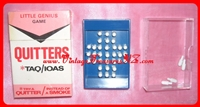 "Image for Quitters TAQ/IOAS (""Try a Quitter Instead of a Smoke"") Little Genius Royal London Peg Jumping Brain Teaser Vintage 1973 Hand-held Portable Travel Game/Toy #038 (RARE & COMPLETE with EXTRA PEGS) <b><span style='color:red'>*****FIRST CLASS SHIPPING INCLUDED – DOMESTIC ORDERS ONLY!*****</span></b><span style='color:purple'>"