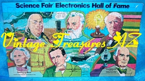 Image for Radio Shack Science Fair Electronics Hall of Fame Jigsaw Puzzle #68-1051 (160 Pieces) Scientists/Inventors Bell/DeForest/Edison/Franklin/Marconi/Morse (MINT/MIP) <b><span style='color:red'>***USPS PRIORITY MAIL SHIPPING INCLUDED – DOMESTIC ORDERS ONLY!***</span></b><span style='color:purple'>