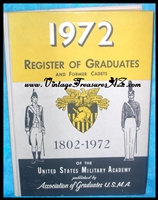 Image for Register of Graduates and Former Cadets of the United States Military Academy/USMA 1802-1972 Vintage Book <b><span style='color:red'>*****MEDIA MAIL SHIPPING INCLUDED – DOMESTIC ORDERS ONLY!*****  </span></b><span style='color:purple'>