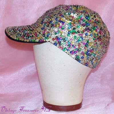 "Image for <b><span style='color:purple'>  Sequined Blingy Hip Hop/Rapper Ladies' Duckbill Baseball Cap/Hat Vintage 1992 ""Suzi Saint Tropez"" (New Old Stock/NEVER WORN + Tags)  </span></b><span style='color:purple'>   <b><span style='color:red'>*****FIRST CLASS SHIPPING INCLUDED – DOMESTIC ORDERS ONLY!*****</span></b><span style='color:purple'>"