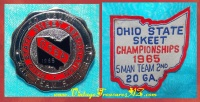 "Image for Skeet Shooting ""Ohio State Skeet Championships - 20 Gauge 5-Man Team"" Vintage 1965 2nd Place & Runner-Up Awards Pin/Pinback & Patch Set <b><span style='color:red'>*****1st CLASS SHIPPING INCLUDED – DOMESTIC ORDERS ONLY!*****</span></b><span style='color:purple'>"