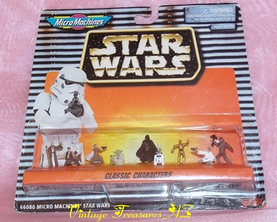 Image for <b><span style='color:purple'>   Star Wars Micro Machines Classic Characters Galoob Miniature Action Figures Collection Set #66080 1996 (new in factory sealed packaging) </span></b><span style='color:purple'>   <b><span style='color:red'>***USPS FIRST CLASS SHIPPING INCLUDED – DOMESTIC ORDERS ONLY!***</span></b><span