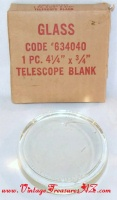 Image for Telescope Blank Lens #634040 4.25-inches x 3/4-inches Pyrex Glass Unused, Mint in Original Box <b><span style='color:red'>USPS PRIORITY MAIL SHIPPING INCLUDED – DOMESTIC ORDERS ONLY!</span></b><span style='color:purple'>