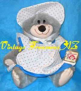 Image for The Hatfields Elly Mae Hatfield Teddy Bear Applause Large Stuffed Animal Plush Toy Hang Tags/Sewn Label Vintage 1986 Real McCoy Country Bear  <b><span style='color:red'> USPS PRIORITY MAIL SHIPPING INCLUDED – DOMESTIC ORDERS ONLY!</span></b><span style='color:purple'>