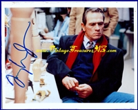 "Image for Tommy Lee Jones ""The Fugitive"" Prosthetics Lab Movie Scene Autographed (Autograph) Color Photograph/Photo & COA (Certificate of Authenticity) - Cleverly ""HAND""-signed (pun intended) on a Prosthetic Arm  <b><span style='color:red'>*****FIRST CLASS SHIPPING INCLUDED – DOMESTIC ORDERS ONLY!*****</span></b><span style='color:purple'>"