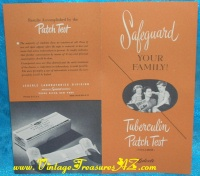 Image for Safeguard Your Family - Tuberculin Patch Test (Vollmer) Lederle Laboratories Color Pamphlet/Brochure Vintage ca. 1955  <b><span style='color:red'>*****FIRST CLASS SHIPPING INCLUDED – DOMESTIC ORDERS ONLY!*****</span></b><span style='color:purple'>