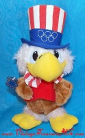 Image for Uncle Sam the Olympic Eagle Vintage 1980 Wallace Berrie & Co Souvenir Plush Stuffed Animal Toy - Official Mascot of the 1984 Los Angeles Olympics Games  <b><span style='color:red'>*****PRIORITY MAIL SHIPPING INCLUDED – DOMESTIC ORDERS ONLY!*****</span></b><span style='color:purple'>