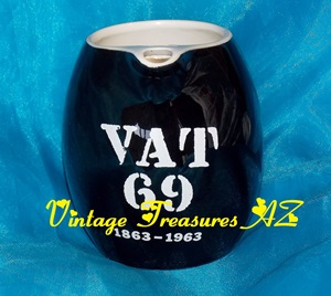 Image for Vat 69 1863-1963 100th Anniversary Black & White Pitcher/Jug/Ewer Scotch Whisky/Whiskey Commemorative Vintage Mid Century Modern Design Bar/Pub/Tavern    <b><span style='color:red'>***USPS PRIORITY MAIL SHIPPING INCLUDED – DOMESTIC ORDERS ONLY!***</span></b><span style='color:purple'>
