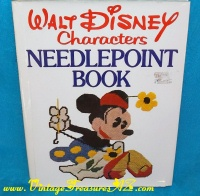 Image for Walt Disney Characters Needlepoint Book - Embroideries & Needlework Instruction by Lisbeth Perrone (includes FULL-SIZE PATTERNS) Vintage 1976 w/ Dust Jacket   <b><span style='color:red'>*****MEDIA MAIL SHIPPING INCLUDED – DOMESTIC ORDERS ONLY!*****</span></b><span style='color:purple'>