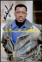 "Image for Wesley Snipes ""Passenger 57"" Movie Scene Autographed (Autograph) Leather Bomber/Aviator Jacket Hand-Signed Color Photograph/Photo & COA (Certificate of Authenticity)   <b><span style='color:red'>*****FIRST CLASS SHIPPING INCLUDED – DOMESTIC ORDERS ONLY!*****</span></b><span style='color:purple'>"