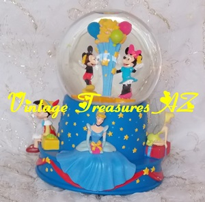 "Image for Disney/Hallmark ""Walt's 100th Birthday 2001 - 'When You Wish Upon a Star'"" Retired, Limited Edition Musical Water Globe/Snow Globe #PR2319 (Cinderella, Mickey Mouse, Minnie Mouse, Pinocchio, Tinker Bell/Tinkerbell)     <b><span style='color:red'>USPS STANDARD POST SHIPPING INCLUDED – DOMESTIC ORDERS ONLY!</span></b><span style='color:purple'>"