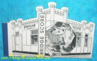 "Image for White Castle Hamburgers ""Buy 'em by the 'Sack"" Vintage 1935  Castle Building-shaped Bridge Scoring Tally Notepad (COMPLETE) Restaurant Advertising Collectible    <b><span style='color:red'>  *****FIRST CLASS SHIPPING INCLUDED – DOMESTIC ORDERS ONLY!*****  </span></b><span style='color:purple'>"