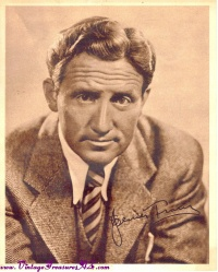 "Image for Spencer Tracy ""Northwest Passage"" MGM & Standard Oil Red Crown Gasoline Vintage ca 1930s-1940s Promotional Head Shot Movie Studio Photograph <b><span style='color:red'>*****SHIPPING INCLUDED – DOMESTIC ORDERS ONLY!*****  </span></b><span style='color:purple'>"