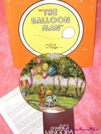 Image for Balloon Man Limited Edition Mint-in-Box Vintage 1979 Collector Plate by Impressionist Artist Dominic John Mingolla - Calhoun's Collectors Society    <b><span style='color:red'>  *****PRIORITY MAIL SHIPPING INCLUDED – DOMESTIC ORDERS ONLY!*****  </span></b><span style='color:purple'>