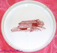 Image for Red Bridge Bank Fishing Area Mckean County, Pennsylvania Vintage Souvenir Ironstone Cigarettes Ashtray <b><span style='color:red'>  *****SHIPPING INCLUDED – DOMESTIC ORDERS ONLY!*****  </span></b><span style='color:purple'>