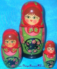 Image for Eklutna Village Historical Park - Anchorage, Alaska Russian Nesting Dolls Family Souvenir <b><span style='color:red'>  *****PRIORITY MAIL SHIPPING INCLUDED – DOMESTIC ORDERS ONLY!*****  </span></b><span style='color:purple'>