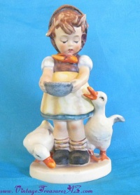 Image for Hummel-Goebel 'Be Patient' Tmk 5 Last Bee Mark Vintage ca 1970-1976 Girl with Geese Figurine  <b><span style='color:red'>  *****PRIORITY MAIL SHIPPING INCLUDED – DOMESTIC ORDERS ONLY!*****  </span></b><span style='color:purple'>