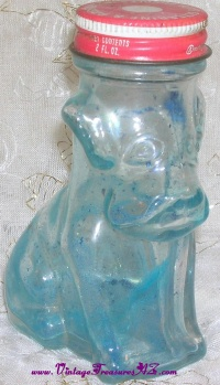Image for Dog-shaped Bottle House of Lowell Glycerine & Rosewater Bath Bubbles Vintage ca 1950s-1960s  <b><span style='color:red'>  *****PRIORITY MAIL SHIPPING INCLUDED – DOMESTIC ORDERS ONLY!*****  </span></b><span style='color:purple'>