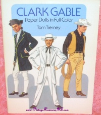Image for Clark Gable Paper Dolls in Full Color Vintage 1986 Tom Tierney Book  UNCUT  <b><span style='color:red'>  *****FIRST CLASS SHIPPING INCLUDED – DOMESTIC ORDERS ONLY!*****  </span></b><span style='color:purple'>