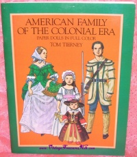 "Image for Colonial Paper Dolls Vintage 1983 Book ""American Family of the Colonial Era Paper Dolls in Full Color"" by Tom Tierney UNCUT <b><span style='color:red'>  *****FIRST CLASS SHIPPING INCLUDED – DOMESTIC ORDERS ONLY!*****  </span></b><span style='color:purple'>"
