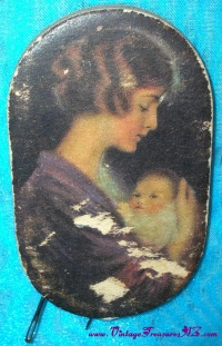 "Image for Prudential Insurance Company Sewing Needles Holder Artist-Illustrated ""Mother & Child"" Antique/Vintage ca early-1900s to 1930s Promotional Advertising Giveaway <b><span style='color:red'>  *****FIRST CLASS SHIPPING INCLUDED – DOMESTIC ORDERS ONLY!*****  </span></b><span style='color:purple'>"