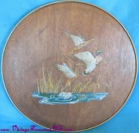 Image for Ducks-Mallards-Geese Smith Crafted Chicago Vintage ca 1940s-1950s Nature/Wildlife Motif Candy/Cookies Faux Wood & Copper Collectible Tin Box <b><span style='color:red'>  *****PARCEL POST SHIPPING INCLUDED – DOMESTIC ORDERS ONLY!*****  </span></b><span style='color:purple'>