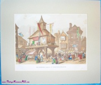 "Image for Shakespeare Etching Print Antique Hand-Colored Entitled ""The Shakespere Jubilee at Stratford-Upon-Avon"" <b><span style='color:red'>  *****FIRST CLASS SHIPPING INCLUDED – DOMESTIC ORDERS ONLY!*****  </span></b><span style='color:purple'>"