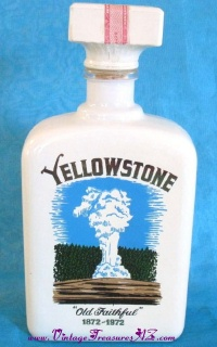 "Image for Yellowstone National Park ""Old Faithful"" Centennial Commemorative 1872-1972 Vintage Decanter Bottle  <b><span style='color:red'>  *****PARCEL POST SHIPPING INCLUDED – DOMESTIC ORDERS ONLY!*****  </span></b><span style='color:purple'>"