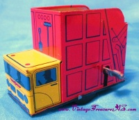 Image for Garbage Refuse Truck Vintage Japan Tin Wind-Up Motion Toy <b><span style='color:red'>  *****PRIORITY MAIL SHIPPING INCLUDED – DOMESTIC ORDERS ONLY!*****  </span></b><span style='color:purple'>